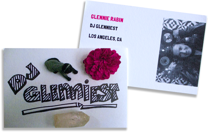DJ Glenniest Business Cards