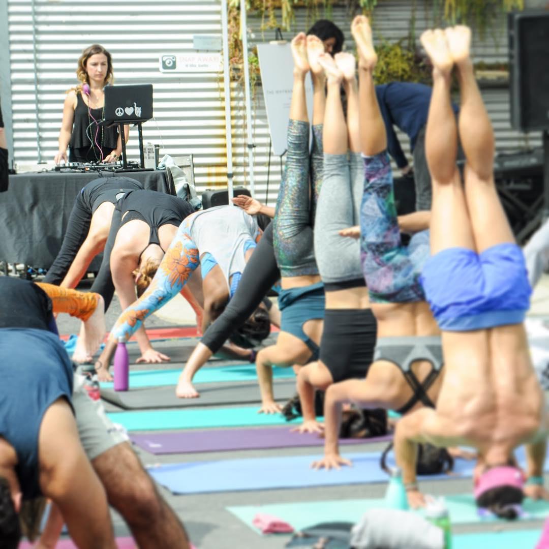 DJ Glenniest at BENDER Yoga x Sound x Art, Bergamot Station, Santa Monica, CA